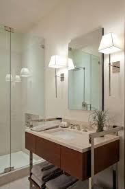 chrome bathroom sconces. Delighful Sconces Contemporary Bathroom Sconces Modern With Simple Mirror  And Nice Above Wall Chrome  Throughout