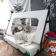 DIY Toddler Bed In Shape Of A Tent U2013 Kids TeePee Trundle  Home  Pinterest