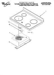 whirlpool rf396lxeq0 standing electric range timer stove rf396lxeq0 standing electric range cooktop parts diagram