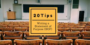 20 Tips For Writing A Strong Grad School Statement Of Purpose ...