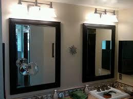 mirror lighting strips. Beautiful Decorating Ideas Using Small Round White Strips Light And Rectangular Black Mirrors Also With Mirror Lighting