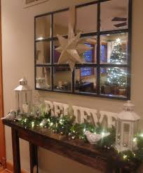 Console Decor Ideas Decorated Christmas Console Table I Like The Letters Maybe For