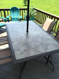 tile patio table top replacement imposing unique glass for home design ideas