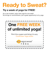 use the coupon for a free week
