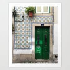 lisbon front door art print