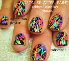 Paint Splash Nail Design Nail Art By Robin Moses Splatter Paint Nails Pollock