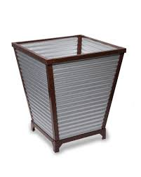 galvanized selfwatering planters  tall corrugated metal planters