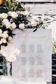The Sheldon Seating Chart Classic Modern Customized Pink Marble Gold Seating Chart Diy Print