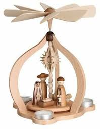Candle Pyramid with Nativity via The Wooden Wagon | Holiday ...