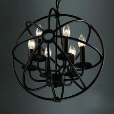 chandelier in a cage industrial led orb chandelier in wrought iron style with globe cage diy
