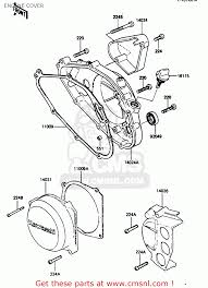 kawasaki arc usa mph engine cover schematic partsfiche engine cover schematic