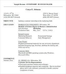 Resume Examples Internship Download Internship Resume Template