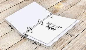 3 Ring Binder Size Chart Binder Sizes A Guide To Standard Us 3 Ring Binder