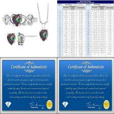 details about antique heart shaped mystic topaz pendant necklaces earrings ring set size 7