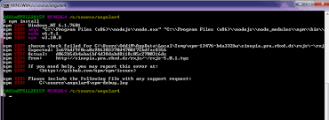 Issue doing an npm install on windows using git bash for angular.io ...