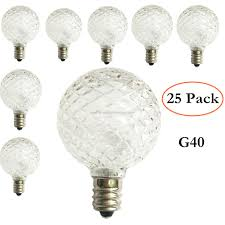Cut Light Bulb Promotional Fairy String Light Replacement Bulb G40 White