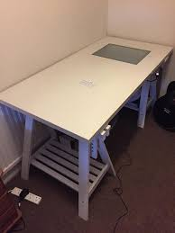 ikea lightbox desk with light and chair