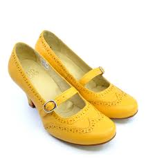 modshoes the penny in mustard leather las mary