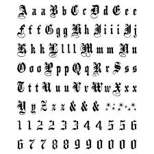 Letters For Tattoos Template Magnificent Old English Lettering Temporary Tattoos