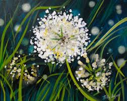 white wildgrass flowers painting with a twist