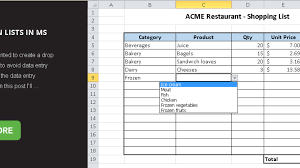 How To Work With Drop Down Lists In Ms Excel Master Data