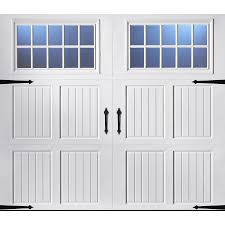 lowes garage door insulationShop Pella Carriage House 96in x 84in Insulated White Single