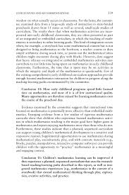 conclusions and recommendations mathematics learning in early page 339