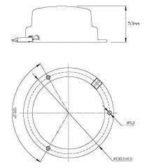 Led rotating pattern beacon amber 12v volt warning light low profile lrb130