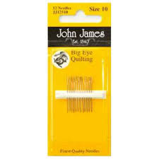 The Quilt Room - John James Big Eye Quilting Needle size 10 ... & John James Big Eye Quilting Needle size 10 Adamdwight.com