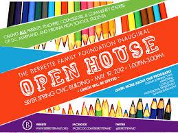 Free House Flyer Template School Open House Brochure Template B O T