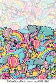 Summer Cartoon Doodle Background Design