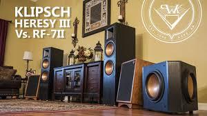klipsch forte 3. klipsch heresy iii vs rf 7ii speaker review forte 3 4