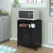 ameriwood shelton black ebony ash microwave cart