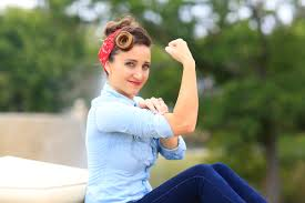rosie the riveter hairstyle tutorial