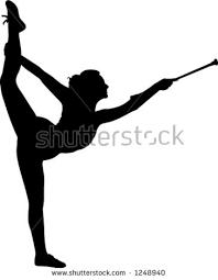 vault gymnastics silhouette. Silhouette Of Gymnast Twirling Baton Vault Gymnastics C