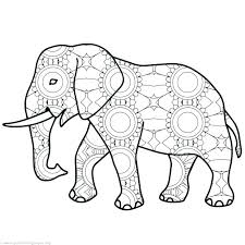 Mom And Baby Elephant Coloring Pages Adults Color Pages Free