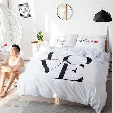 black white cotton bedding sets queen full size duvet cover set quilt cover set bed sheet pillowcase home textile king bedding set jacquard bedding