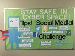 Information Board Design Cyber Safety Bulletin Board With A Super Hero Theme The