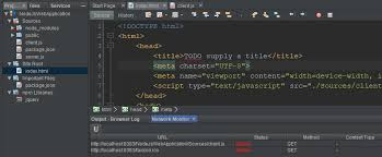 Can't load javascript to HTML page in Node.js with NetBeans - Stack ...