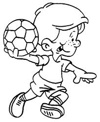 Voetbal Kleurplaat Voetbal