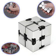 infinity cube 3. infinity cube edc stress relief fidget anti anxiety aluminum adhd adults kids 3 i