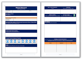 microsoft word assessment blank method statement and risk assessment template pack