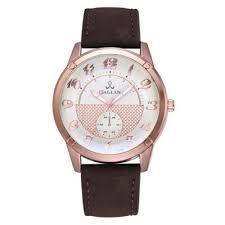 Fashion Casual <b>Men</b> Big Dial Leather Quartz Watch - buy at the ...