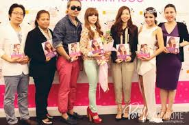 makeup artist pony fourth from left holds a book promotion event in thailand in may 2016 pony