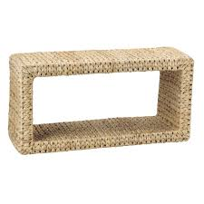 banana leaf coffee table natural by household essentials image