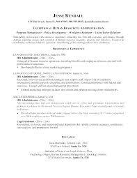 Sample Resume For Hr Sample Resume Hr Generalist Template Hr