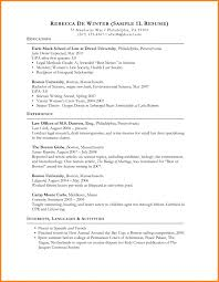 Template Law School Resume Sample Admissions Application Template