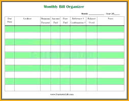 Excel Bill Tracker Template Expense Spreadsheet Template Free Bill Tracker Small