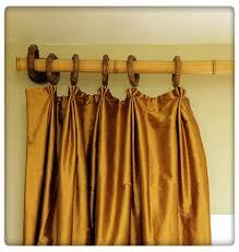 Do It Yourself Bamboo Curtain Rod. #DIY