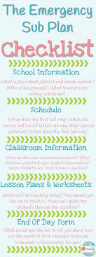 best images about substitute teachers keep in 5 things your emergency sub plans must include